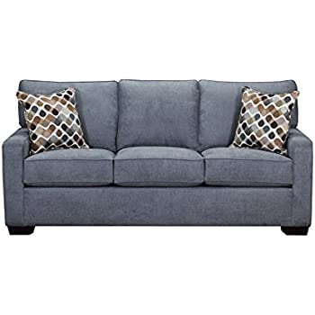 Amazon.com: Simmons Upholstery 9025-03 Mia Denim Sofa ...