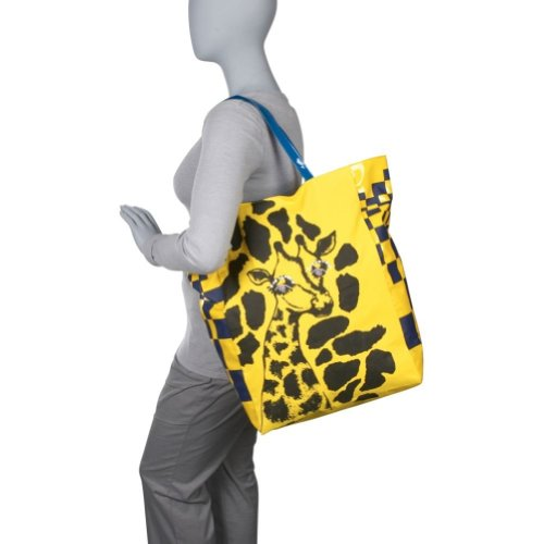 Giraffe Tote Handbag (Yellow), Bags Central