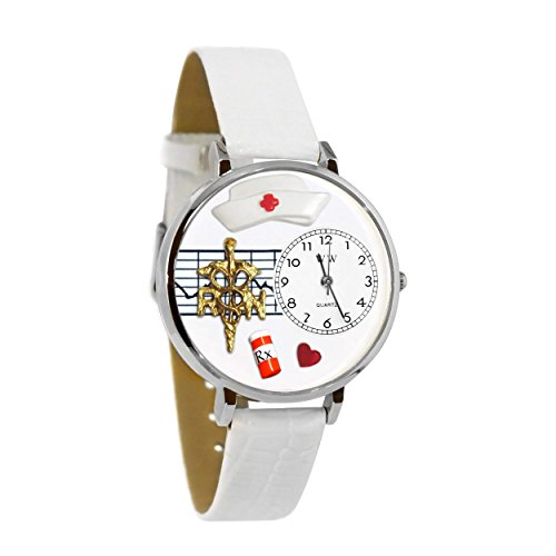 Whimsical Watches Unisex U0620008 RN White Leather Watch ()