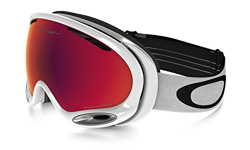 Oakley A-Frame 2.0 Goggles, Polished White, Prizm Torch Irid