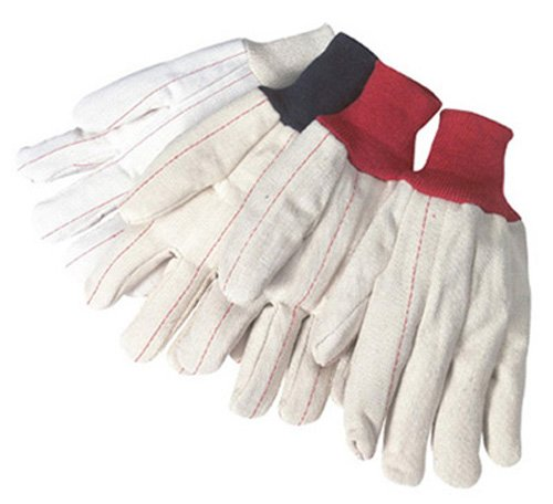 Liberty 4518Q/CR 18 oz Cotton/Polyester Blend Corduroy Nap-In Double Palm Canvas Glove (Pack of 12) ()