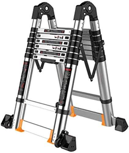 はしご アルミ台 伸縮はしご エンジニアリング伸縮はしご、42ミリメートル大の共同折りたたみのために屋外作業をワンボタン後退リフティングラダーアルミ 便座とフレーム (Size, 2.1m),3.3m