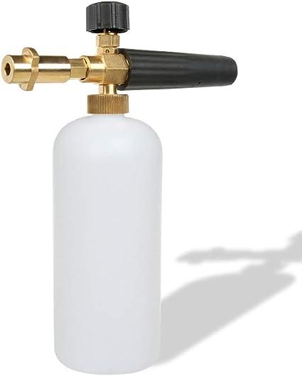 pulverizador dispensador de jab/ón Botella de 1 l y Adaptador de Rosca Macho Stone Banks Espuma de jab/ón para Lavado de Coche con Boquilla de Espuma Ajustable
