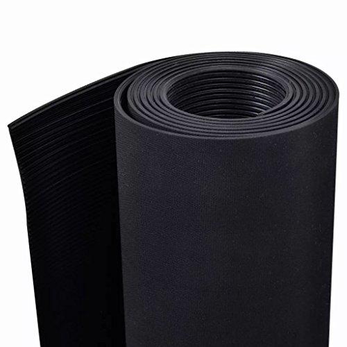 vidaXL Anti-Slip Rubber Safety Floor Mats Fine Ribbed Door Rug Home Carpet 7' x 3' by vidaXL (Image #3)