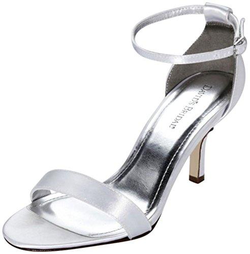 Dyeable Single Strap Sandal Style NAYOMIWHITE, White, (Womens Dyeable Wedding Shoes)