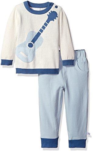 Rosie Pope Little Boys 2 Piece Cotton Sweater Pant Set, Blue, 12 (2 Piece Cotton Sweater)