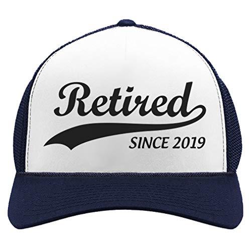 Tstars Retirement Gift for Men Women Retired Since 2019 Funny hat Trucker Hat Mesh Cap One Size Navy/White (Gifts The For Retired Dad)