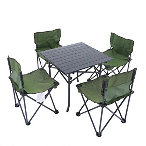 Zhouchenchen Mesas y sillas Al Aire Libre Mesa Plegable Silla de ...