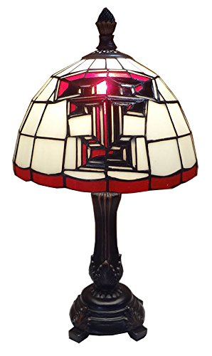 Leaded Stained Glass Lamp (Traditions TTECH400 Texas Tech Accent Lamp)