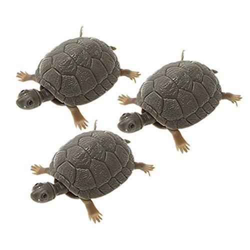 - wsloftyGYd Lifelike 3D Artificial Fake Little Turtle No Feeding Fish Tank Jar Decorations