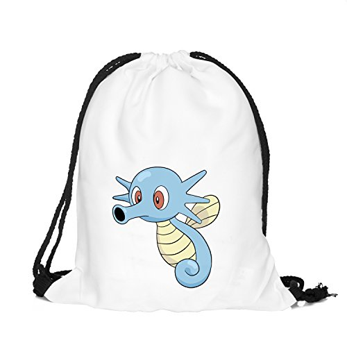 OLSS-Original Shoulder Bag Pumping Rope Backpack Pokemon Go! Pattern Printed Bundle Mouth Single Pocket Shoulder Bag (Blue) (Best Pokemon Drawing Ever)