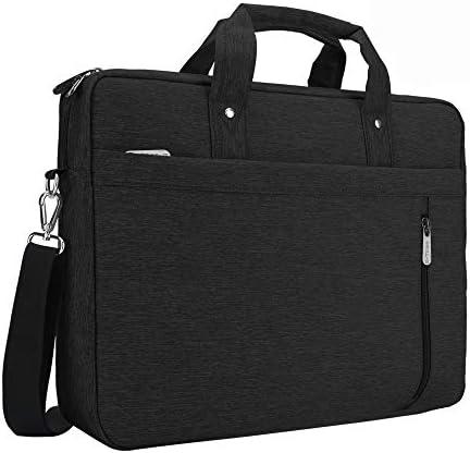E-Tree 17.3 inch Laptop Sleeve Handbag for 17 to 17.3 Notebook Shock Proof Ultra Light Weight Oxford Laptop Shoulder Bag Computer Bag Briefcase Black