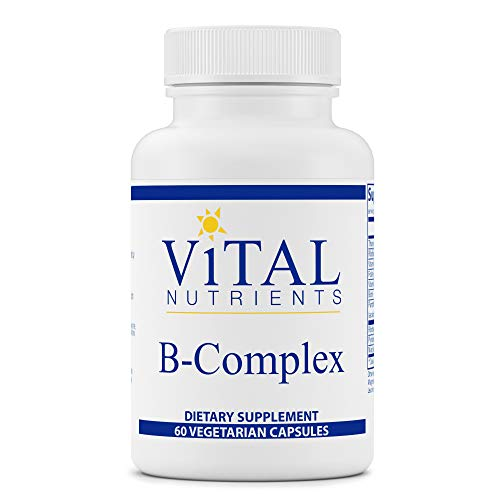 Vital Nutrients – B-Complex – Balanced High Potency B Vitamin Complex – Supports Energy Production, Metabolism and Heart Health – Gluten Free – 60 Vegetarian Capsules per Bottle