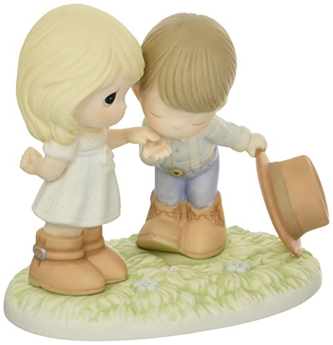 Precious Moments Would You Be My Pardner Bisque Porcelain Figurine 163004