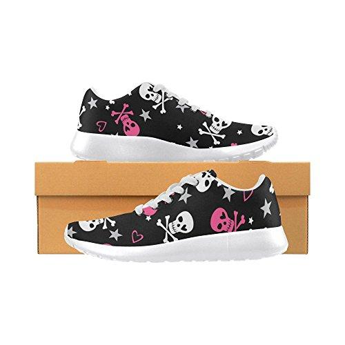 InterestPrint skull rose Sports Running Shoes for Women Skull Cute Pattern lqQ7xcbQ