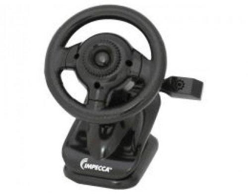 Impecca Steering Wheel Webcam with Built-In Mic, Black (WC100K)