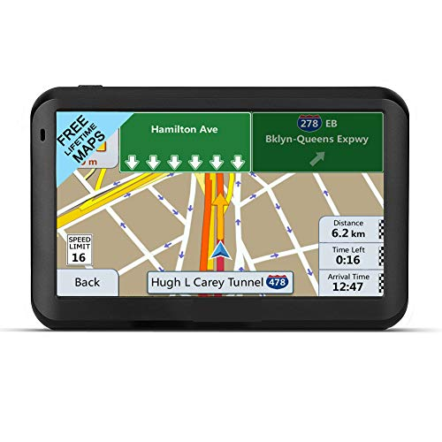 LONGRUF Car GPS Navigation,5-inch 256MB-8GB Real Voice Broadcast, Install The Latest Map of The United States (Free Update Lifetime Map) (Gps Navigation Free)