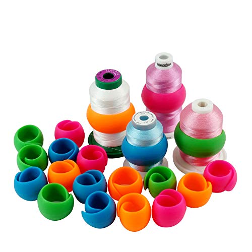 New Brothread 20pcs Thread Spool Huggers - Prevent Thread Tails from Unwinding - No Loose Ends for Sewing and Embroidery Machine Thread Spools