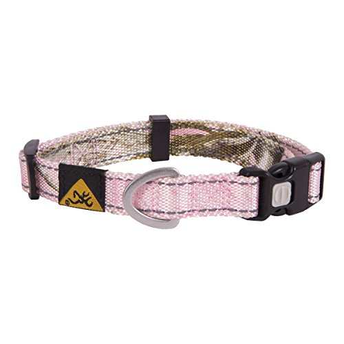 Browning Classic Dog Collar | Xtra Pink | Small (Pink Realtree Collar Dog Camo)