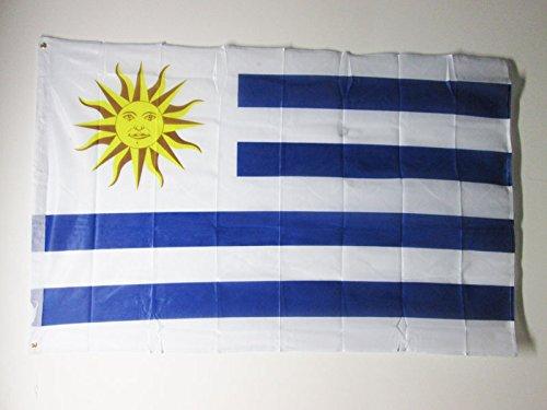 AZ FLAG Bandera de Uruguay 150x90cm Uso Exterior - Bandera URUGUAYA 90 x 150 cm Ojales