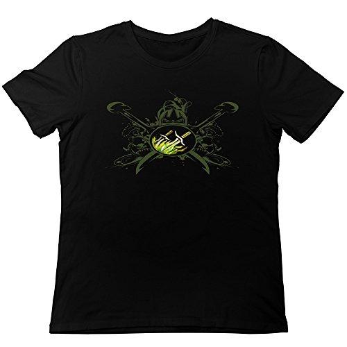 TonyGray Men's Funny Online Games WOW Rogue Logo T-shirt Black - Beach Open Blizzard