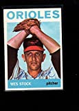 1964 Topps 382 Wes Stock Authentic On Card Autograph Signature Ax6761 Baseball Slabbed Autographed Cards