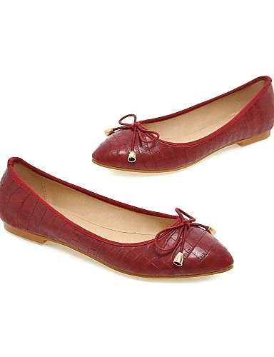 piel almendra de uk4 5 mujer punta PDX sintética golden Flats eu37 azul talón us6 rojo 7 Casual 5 de plano cn37 5 zapatos Toe Rwqx4I