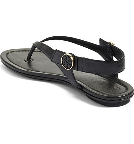 Tory Burch Minnie Leather Travel Sandal (8, Black) by Tory Burch