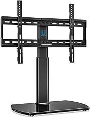 FITUEYES Soporte Giratorio de TV de 32-65 Pulgadas Altura Ajustable Soporte de Mesa para TV LCD LED OLED Plasma Plano Curvo TT107002GB