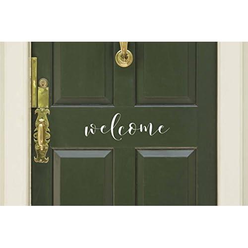 Welcome Vinyl Door Decal   Welcome Front Door Decals, Welcome Home Office  Decor, 15.75