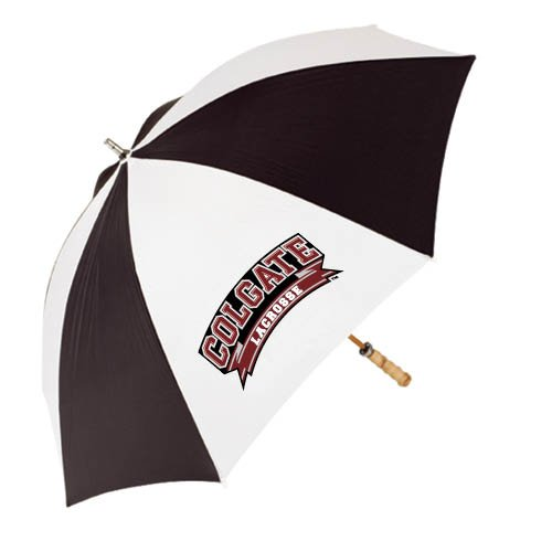 Colgate 62 Inch Black/White Umbrella 'Lacrosse' by CollegeFanGear