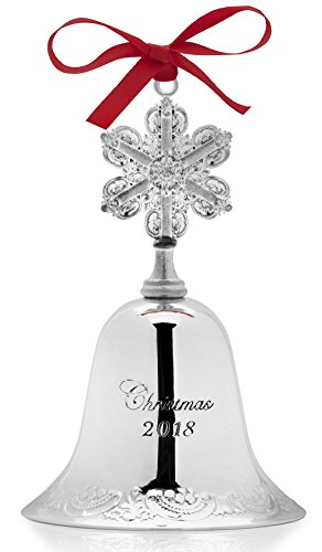 (Wallace 2018 Grand Baroque Bell Silver-Plated Christmas Holiday Ornament 24th Edition)