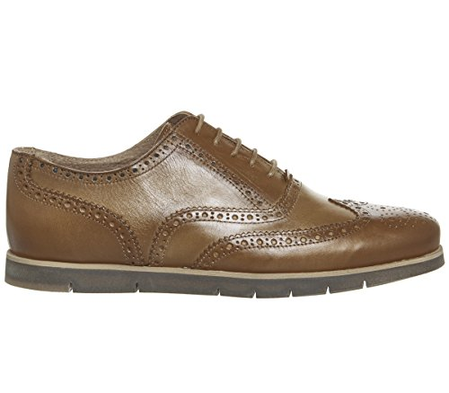 Ask The Missus Harbour Brogues Tan Leather