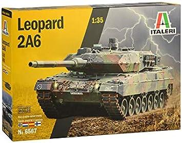 Italeri 6567S 6567S-1:35 Leopard 2A6 - Maqueta de construcción de maqueta (construcción de Modelos, Manualidades, aficiones, Pegamento, Kit de Montaje de plástico, sin lacar): Amazon.es: Juguetes y juegos