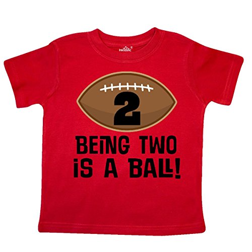 inktastic - 2nd Birthday Football Sports Boys Toddler T-Shirt 2T Red 26e16