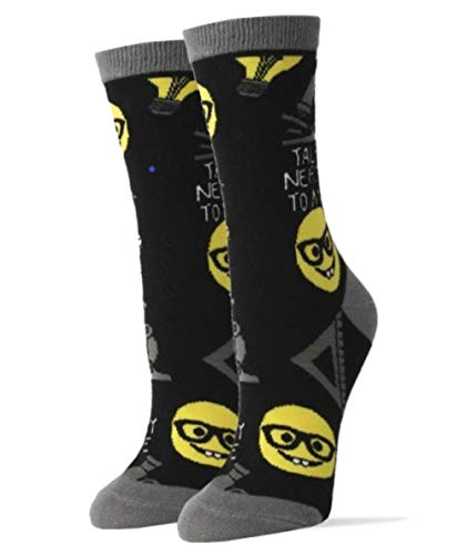 Oooh Yeah! Socks, Women's Cotton Crew Socks (Talk Nerdy)