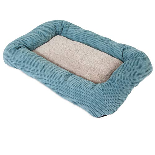 SNOOZZY 23X16 LOW BUMPER CRATE MAT ~ TEAL
