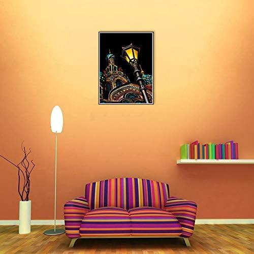スクラッチアート スクラッチ塗装 はがき 4枚入り 削るだけで美しいアート 塗り絵 ペーパーアート(古代建築)(29x21cm)