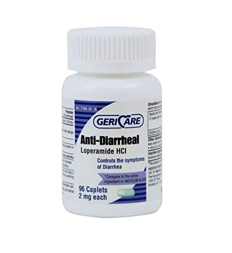 GeriCare - Anti-Diarrheal - 2 mg Strength Caplet - 96/Bottle