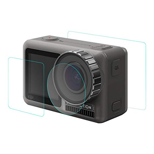 PULUZ Lens + Front and Back LCD Display Tempered Glass Film for DJI Osmo Action