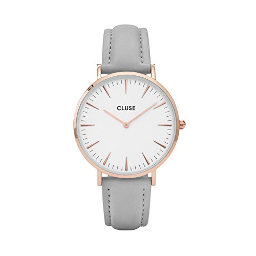 Cluse La Boheme Rose Gold White/Grey Womens Watch CL8015.