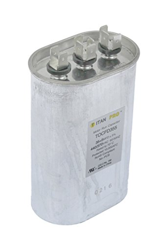 - Run Capacitor, 35+5 MFD, 440/370V, Oval