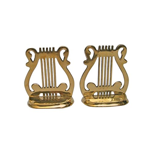 (Solid Brass Music Bookend Pair - Nautical Decor )