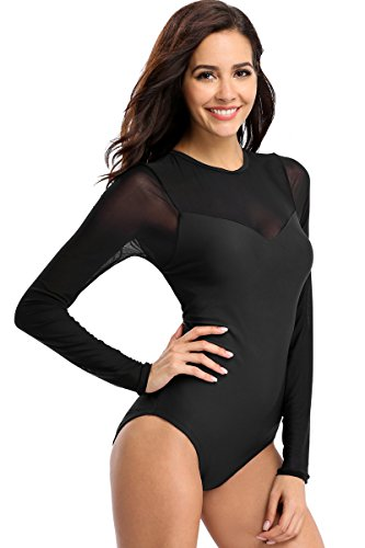 Full Swimming Costumes For Women (Sociala Womens Swimming Costume Swimsuits Rash Guard for Women Swimsuits Swimwear Size L)