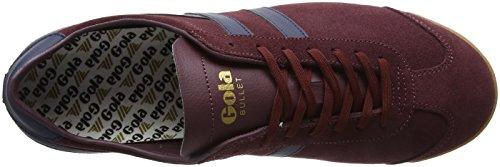 Gola Heren Bullet Suede Mode Sneaker Bordeaux / Marine / Gum