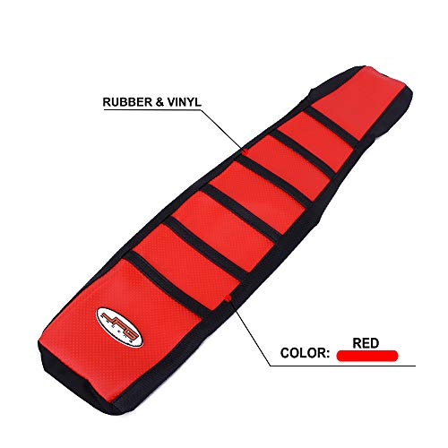 (JFG RACING Gripper Seat Cover Skin Rubber Soft For For Honda CR125R 98-99 CR250R 1997-1999 - Red)
