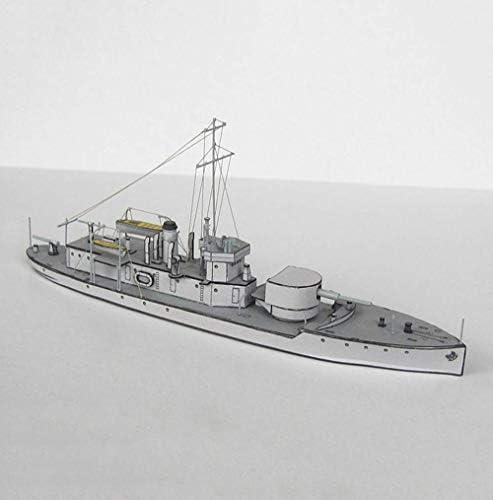 Militaire Paper Puzzle Model Toys, 1/400 Schaal Britse M.18 Inland Gunboat speelgoed en cadeaus, 14inch 8bayfa