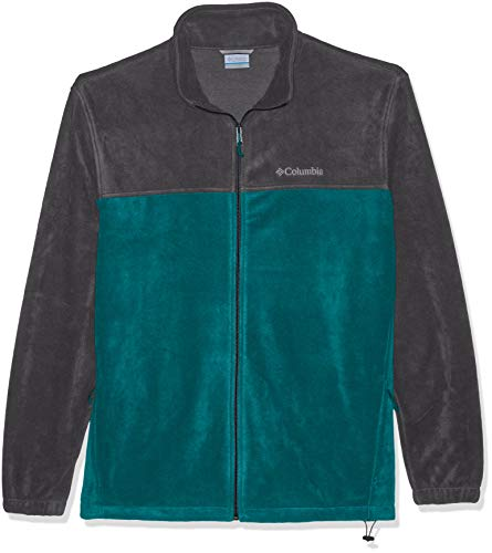 Columbia Men's Steens Mountain Big & Tall Full Zip 2.0, Glacier Green, Graphite, XLT