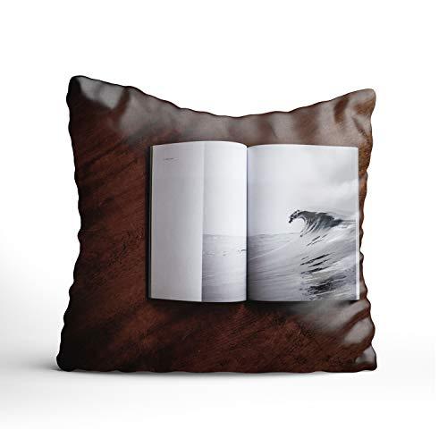 (Book Cushion Cover Simplicity Throw Pillow Case Cotton Square Cushion Case Sofa Home Car Decor)