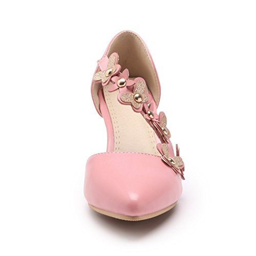 Coolcept Women Fashion Dress Court Shoes Pink oc1TtqI